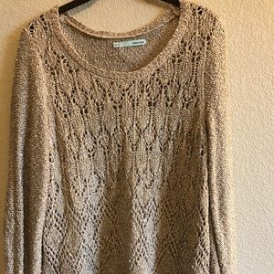 Maurices Sequin Tan Long Sleeve Sweater XXL